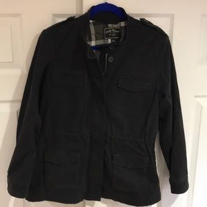 Lucky Brand Lined Utility Jacket Black Ladies Lg